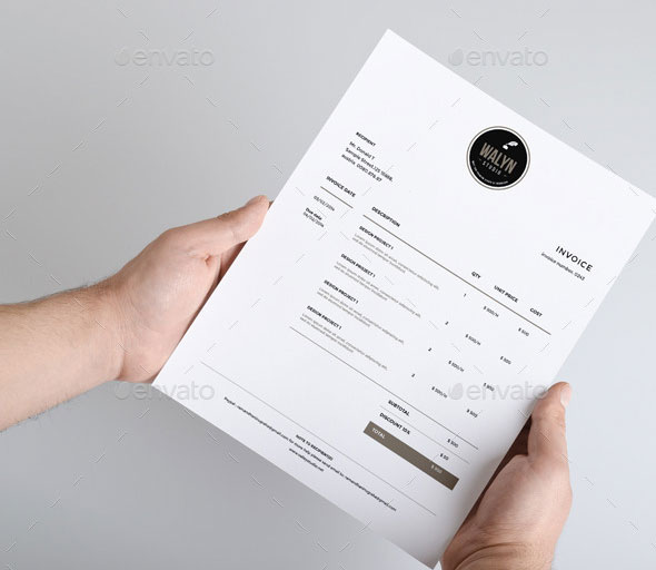 Best PSD Invoice Templates For Freelancer Web Graphic - Modern invoice template