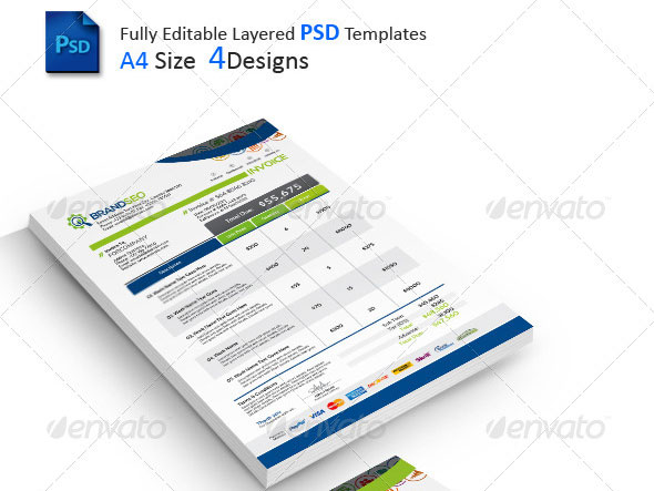37 best psd invoice templates for freelancer | web & graphic, Invoice examples