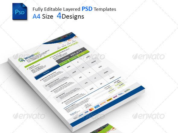 Psd Invoice Insssrenterprisesco - Psd invoice template