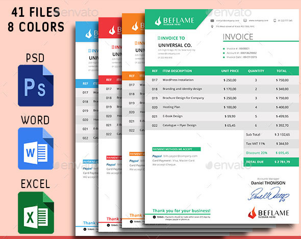 Invoice Design Psd Pertaminico - How to design an invoice in excel