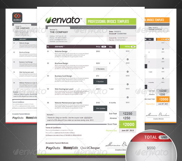 Pro Invoice Template Series - 01