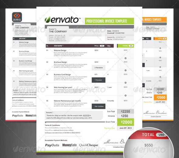 Pro Invoice Template Series - 01