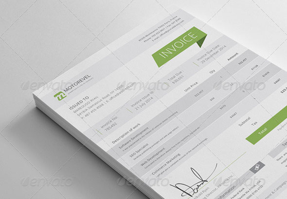 37 Best PSD Invoice Templates For Freelancer | Web & Graphic Design ...