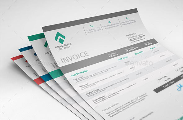 Best PSD Invoice Templates For Freelancer Web Graphic - Invoice design template
