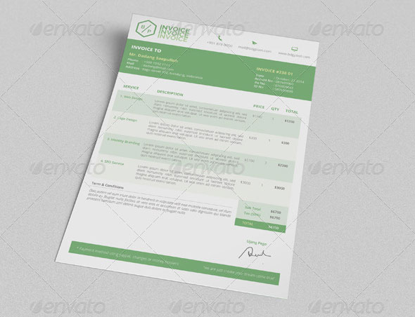 Simple Clean Invoices