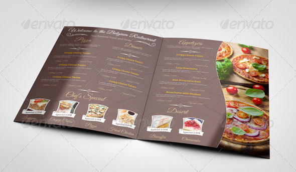 High Quality PSD Restaurant Mockup Templates Web Graphic - Menu mockup template