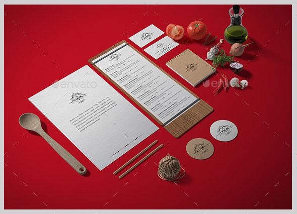 Restaurant / Food Branding Identity Mock-up