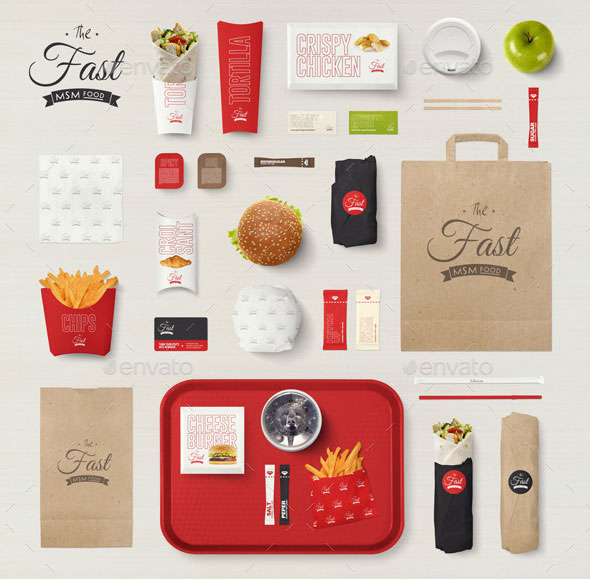 Fast Food Company Identity Mock-up