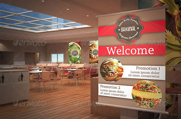 High quality psd restaurant mockup templates web