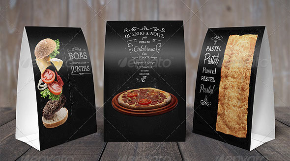 Table Tents Mock Up Template