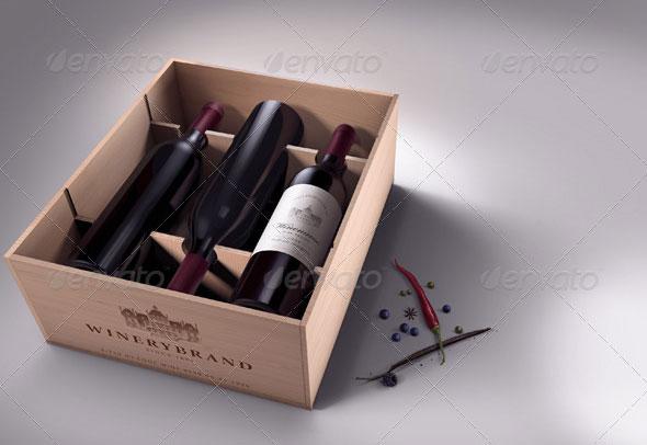 Wine Branding / Stationary Mock-ups Bundle