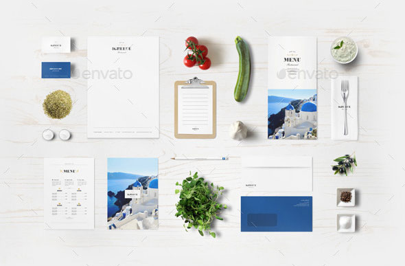 Greek Restaurant Identity Mock-up