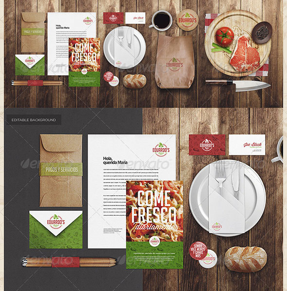 Restaurant / Food Identity Mock-up