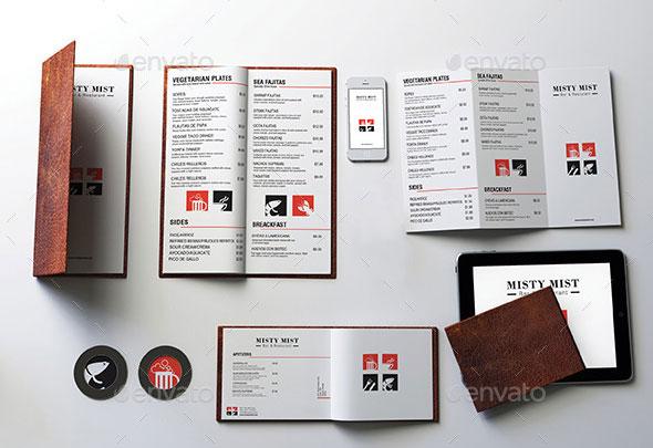 High quality psd restaurant mockup templates bashooka