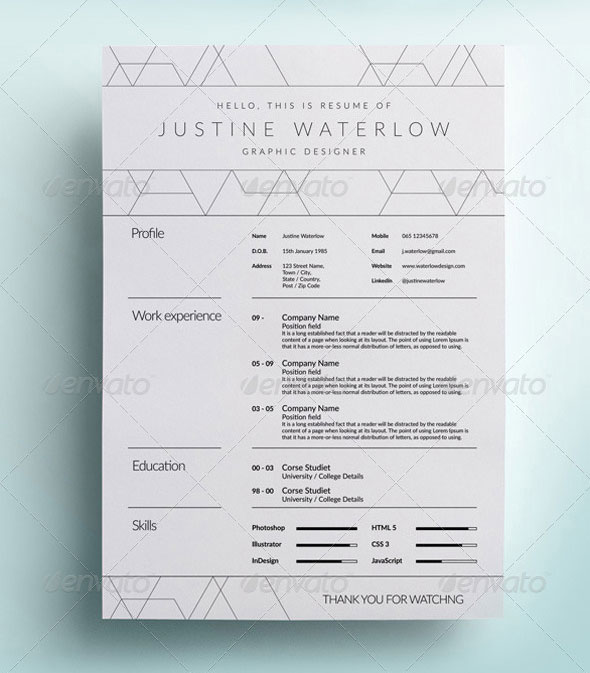 Download Clean And Simple Resume / CV  Simple Graphic Design Resume