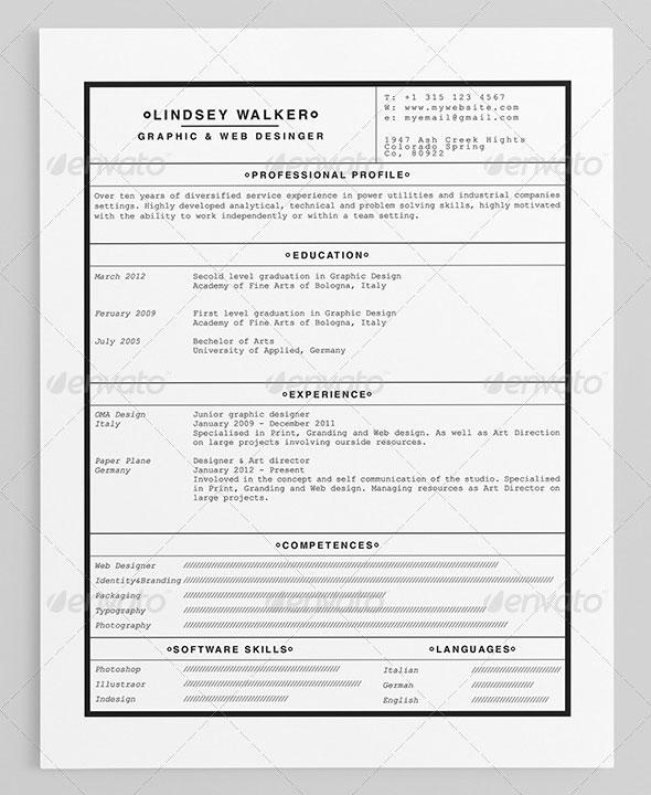 Nordic Style Minimalist Resume