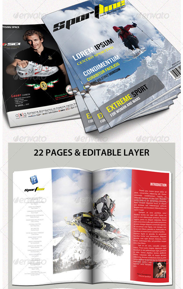 Sportline Magazine Templates