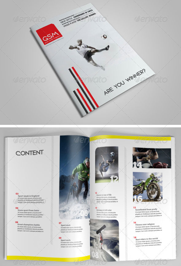 25 Awesome Sport Magazine Cover and Layout Templates | Web ...
