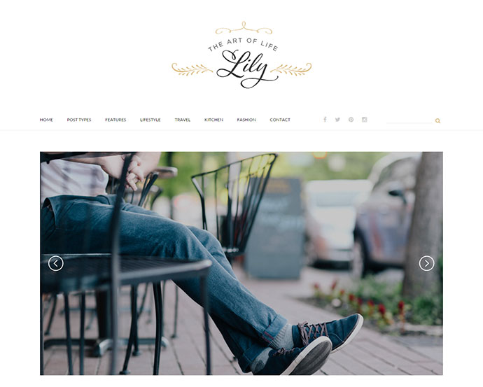 Lily - An Elegant WordPress Blog Theme
