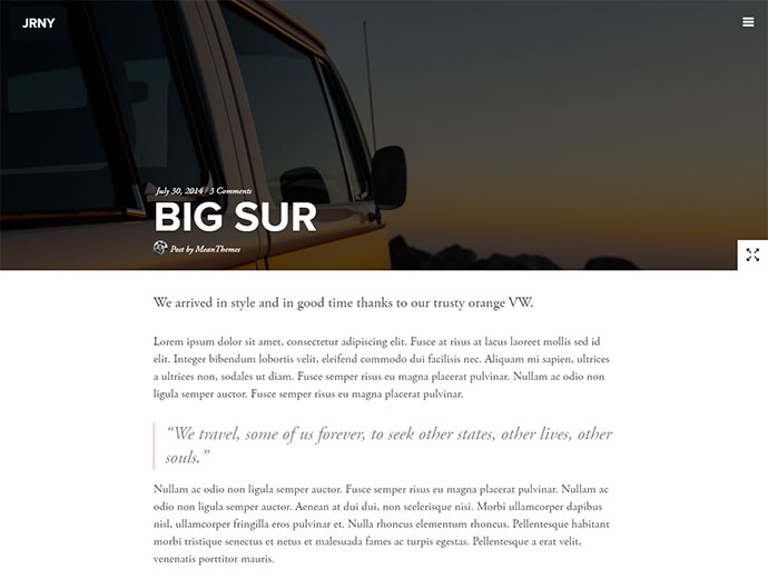 A Gorgeous & Responsive WordPress Blog Theme