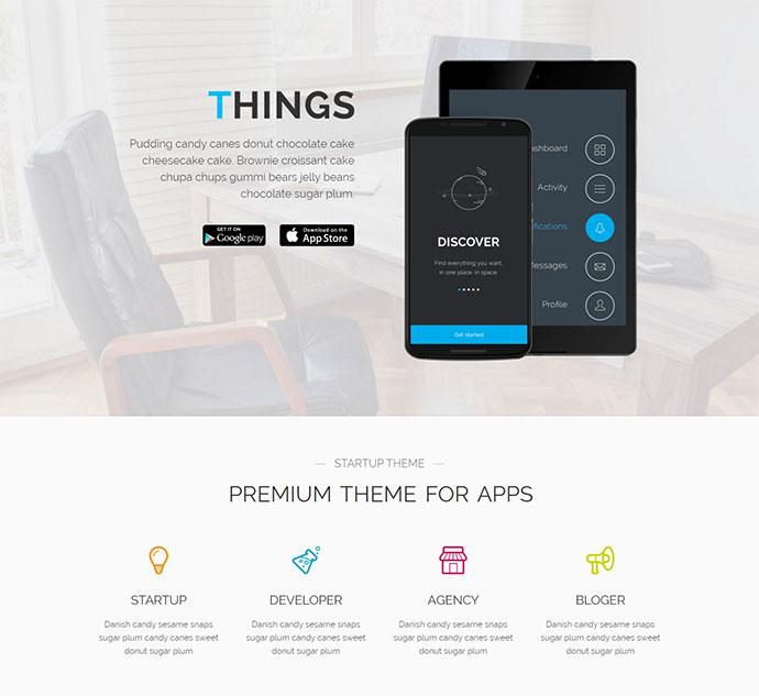 Top 23 Android & iOS App Showcase Wordpress Themes – Bashooka