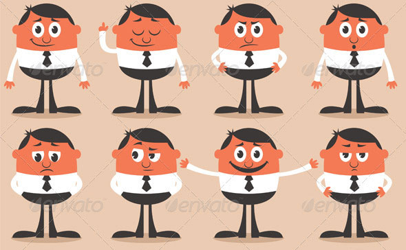 25 amazing psd eps cartoon character illustrations web graphic