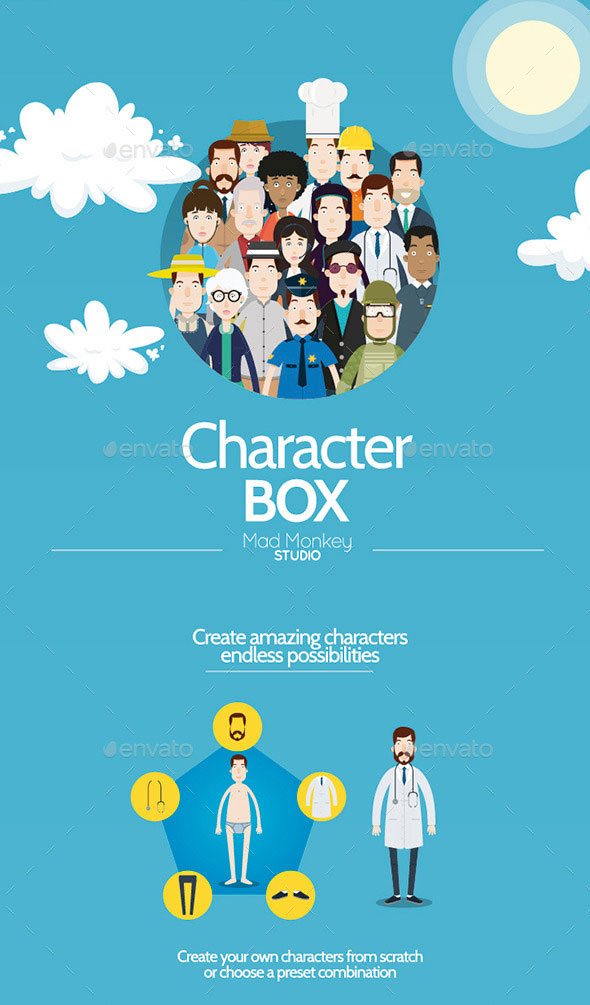 Cartoon Character Design Templates : Amazing psd eps cartoon character illustrations web