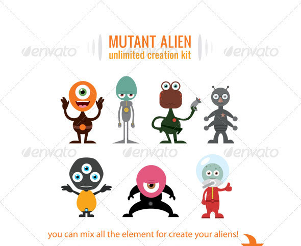 Cartoon Character Design Psd : Amazing psd eps cartoon character illustrations web