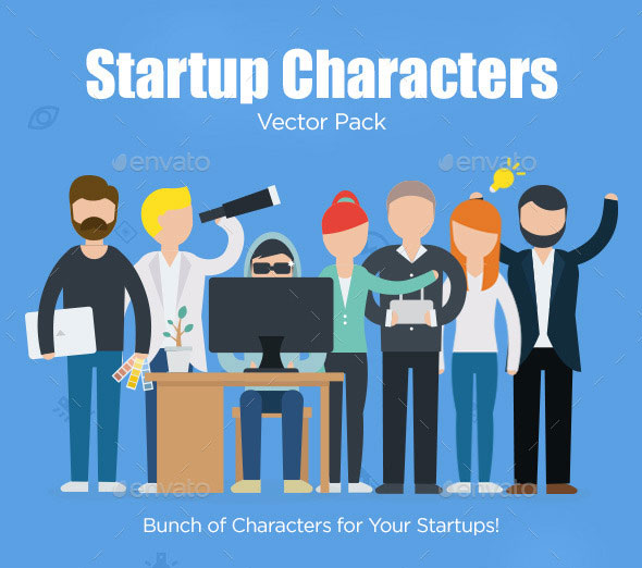 Startup Characters Vector Pack
