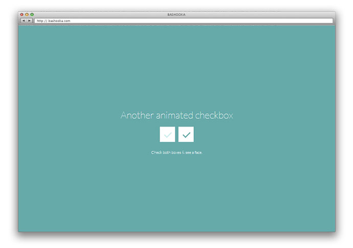 CSS-only animated checkbox
