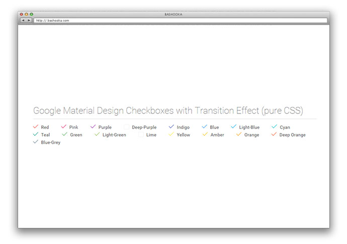 Google Material Design Checkboxes with Transition Effect