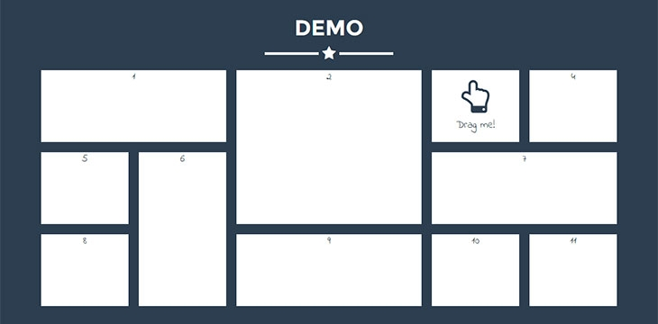 9 jQuery Drag & Drop Grid Layout Plugins