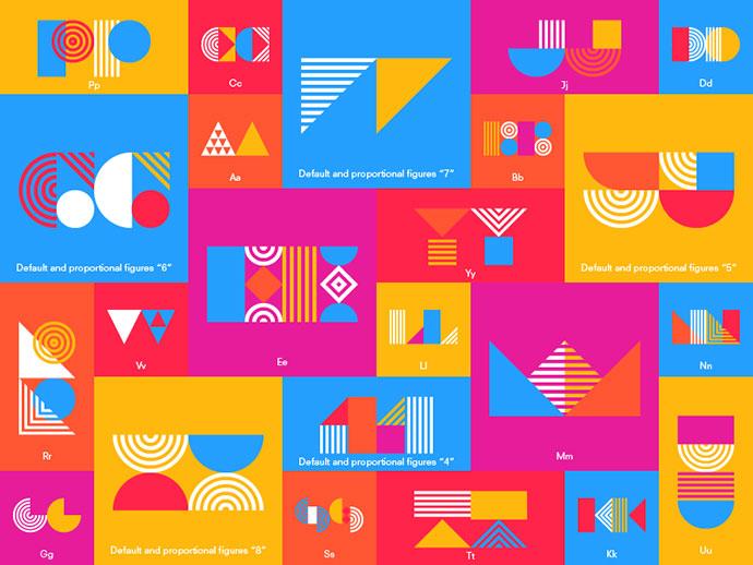 Pattern Typeface by Tamer Koseli