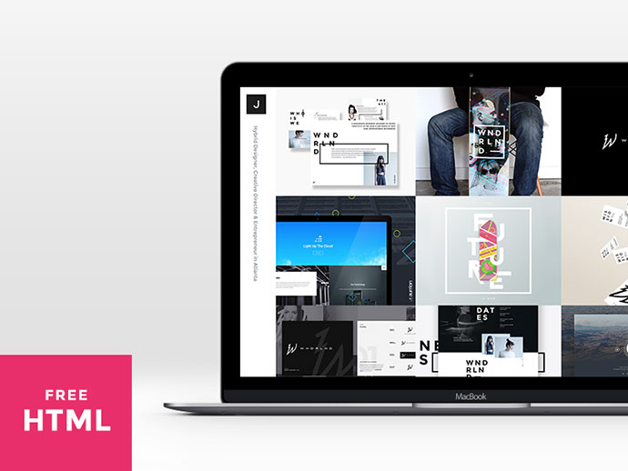 Free Dribbble Feed Portfolio Landing Page by Visual Soldiers