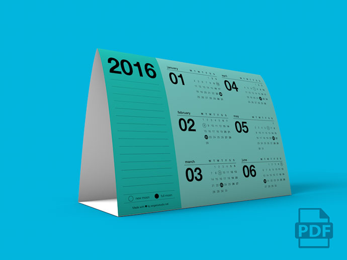 Tent Calendar 2016 by Angelo Studio