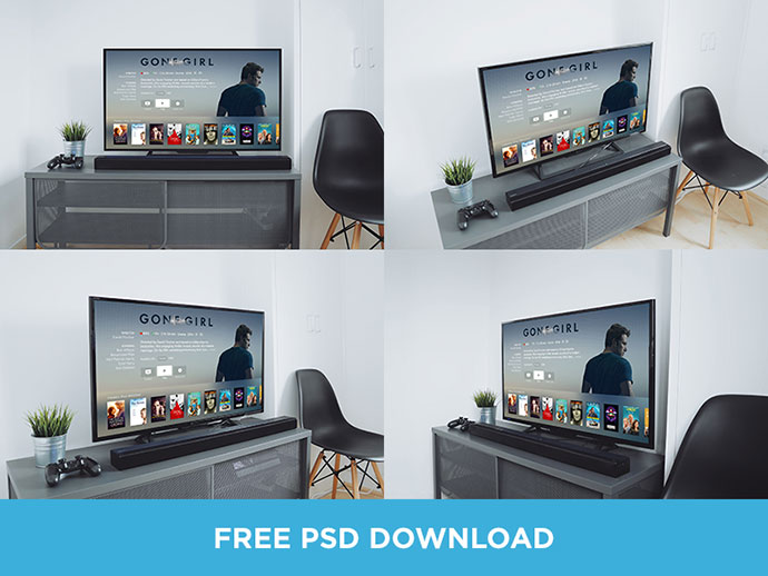 TV Mockups PSD Download by Oliur