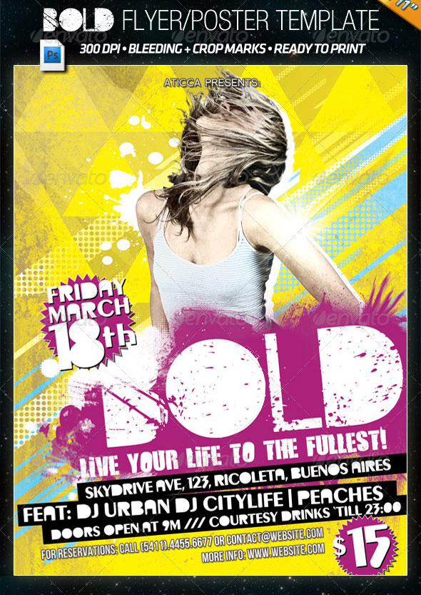 Bold - Grunge Flyer and Poster Template