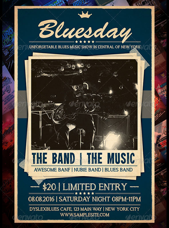 Blues Concert Flyer