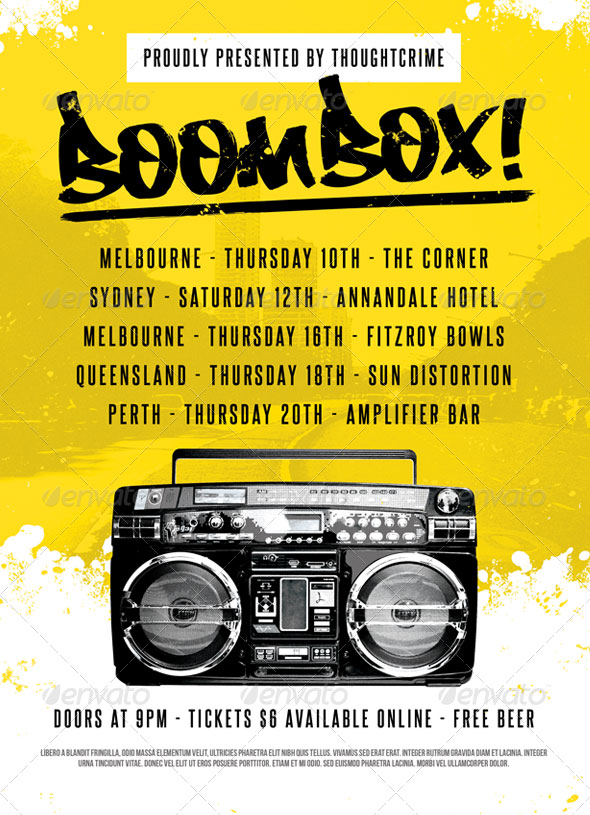 Boombox! - Flyer Template