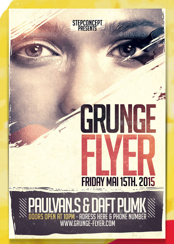 25 cool grunge flyer templates web graphic design bashooka