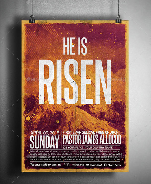 He is Risen Church Flyer/Poster