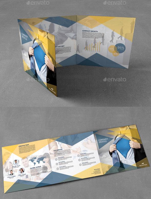 Company Profile Square Trifold Brochure