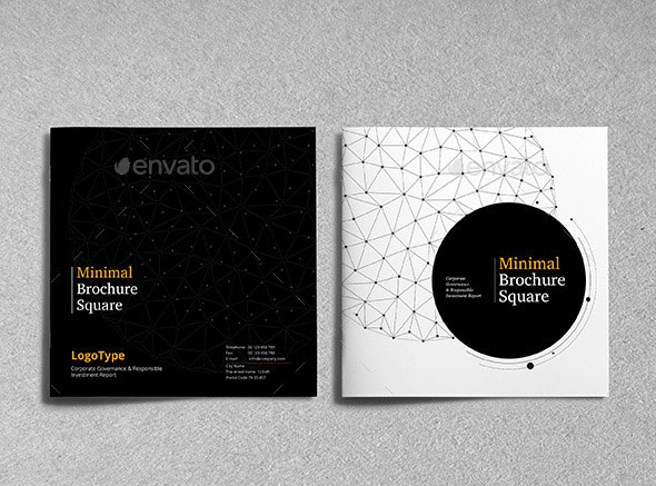 21 striking square brochure template designs  u2013 bashooka