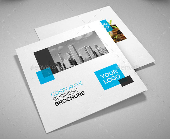 Striking Square Brochure Template Designs Web Graphic - Brochure design template