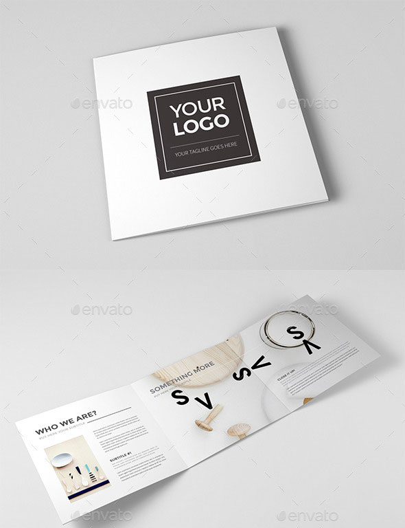 Striking Square Brochure Template Designs Web Graphic - Template for brochure