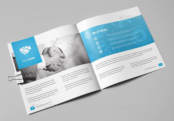 21 striking square brochure template designs