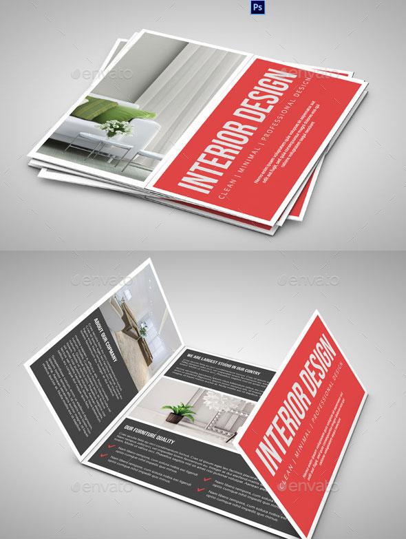 Square Gate fold Brochure-Interior Design