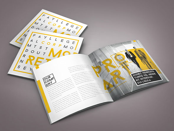 Retro Indesign Brochure Template by Braxas