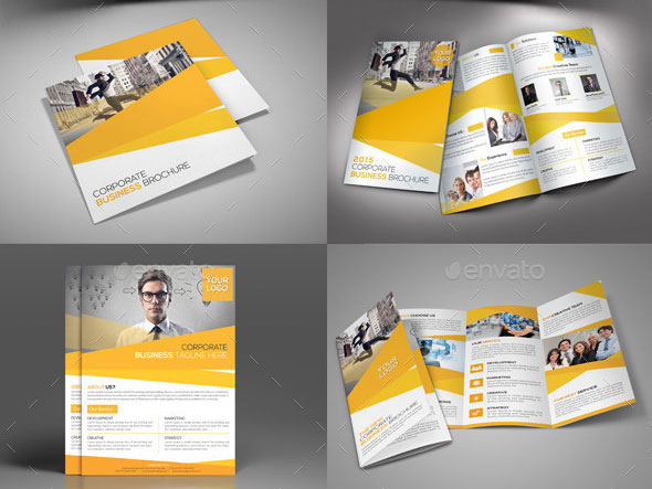 Striking Square Brochure Template Designs Web Graphic - Brochures template