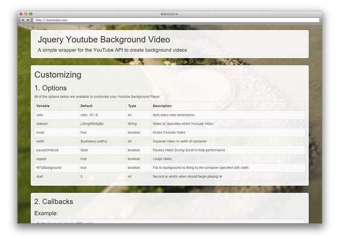 8 Cool jQuery YouTube & Vimeo Plugins – Bashooka
